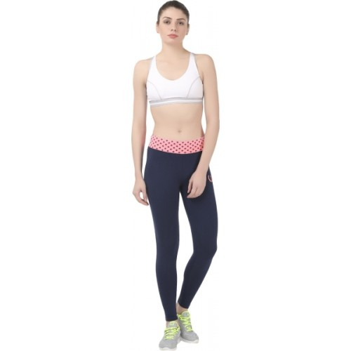 e6e94d48640 Buy Onesport Solid Women s Dark Blue Tights online