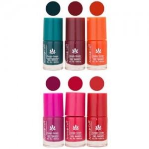 Aroma Care Matte Nail Polish Combo-cc 1-18-33-47-554-633 N Multicolor,