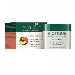 Biotique Bio Peach Clarifying & Refining Peel - Off Mask ( 50gm )