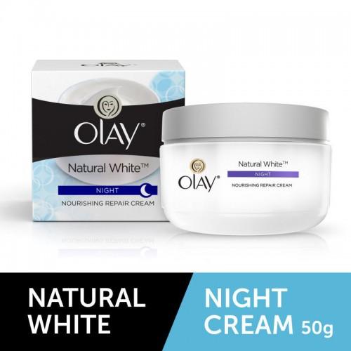 Olay Natural White Nourishing Night Repair Cream (50gm)