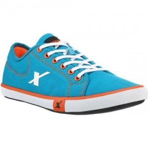 Sparx Sky Blue Canvas Sneakers For Men