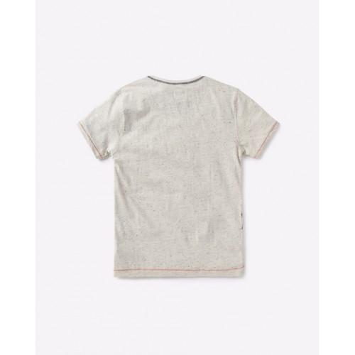 YB DNMX Off White Slim Fit Graphic Print T-shirt