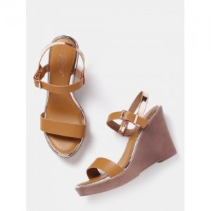 Roadster Brown Synthetic Party Wear Sandals