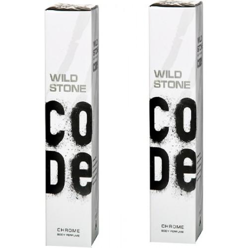 Wild Stone Code Chrome Deodorant Body-Perfume 120 ml set of 2 Deodorant Spray  -  For Men