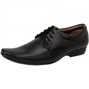 Deals4you Black Leather Formal Shoes
