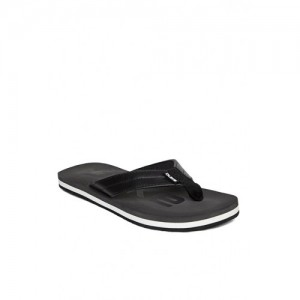 Duke Men Black & Grey Printed Flip-Flops