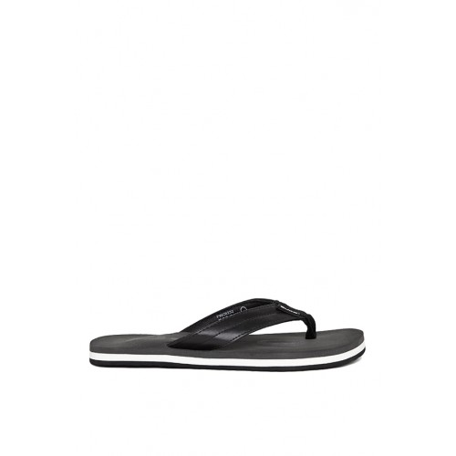 Duke Men Black & Grey Printed Flip-Flops
