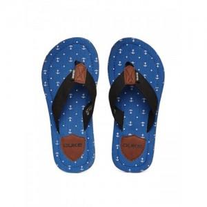 Duke Men Black & Blue Printed Flip-Flops