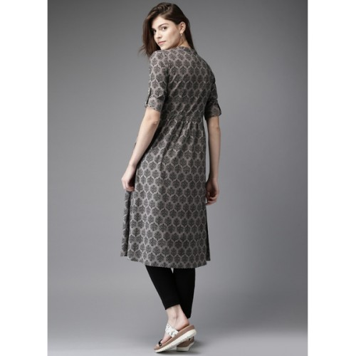 Grey Printed Anarkali