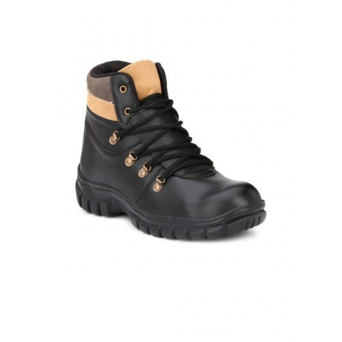 f9bb4a29a24 Buy Eego Italy Men Black Solid Synthetic Leather Mid-Top Trekking ...