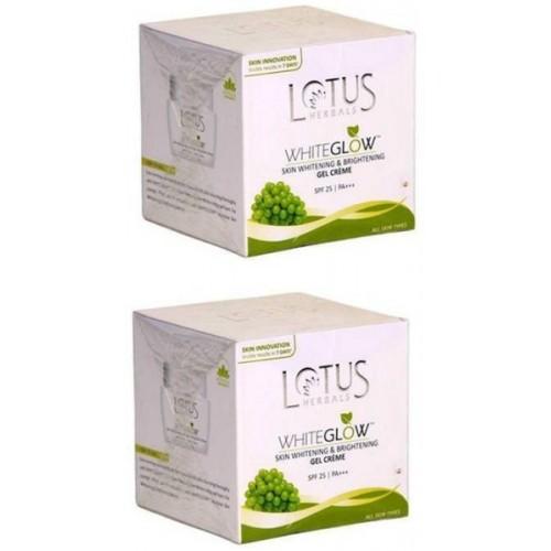 Lotus White glow Skin Whitening & Brightening Gel Cream (Pack of 2)