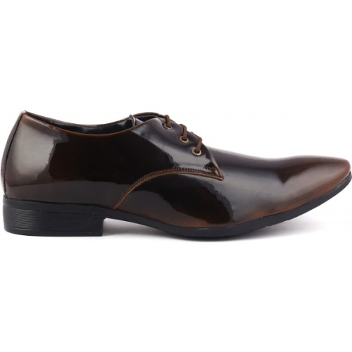Denill's Brown Synthetic Leather Derby Shoes