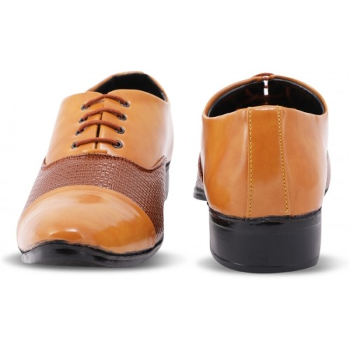 Denill's Brown Synthetic Leather Lace Up Shoes