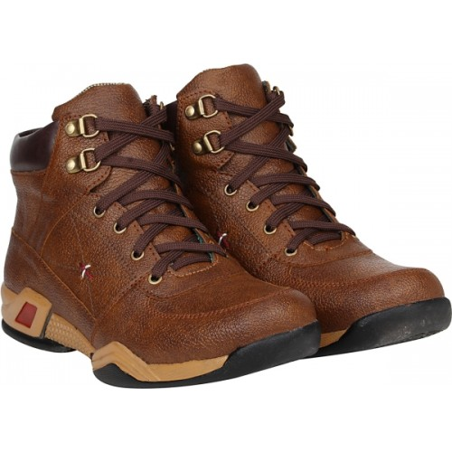 Kraasa Riding Rockers Brown Boots For Men