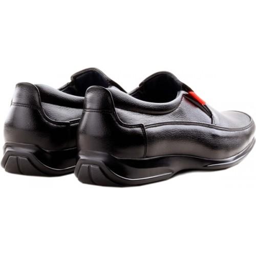 Zebra Mens Formal 100% Leather Shoes Slip On For Men