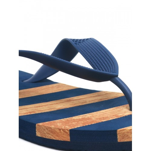 Flipside  Blue Striped Thong Flip-Flops