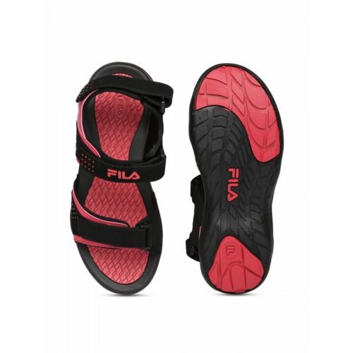 FILA Black & Red RUFINO Sports Sandals