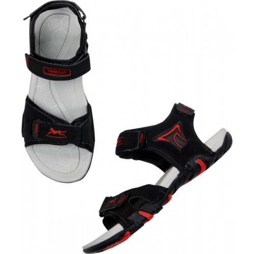 Tomcat Men Black Mesh Sandals