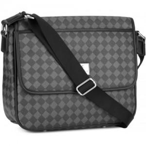 Versace 19.69 Italia Women Grey Genuine Leather Sling Bag