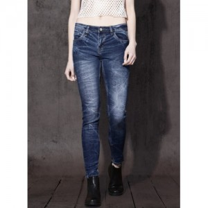 Roadster Blue Mid Rise Skinny Fit Jeans