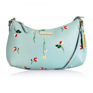 Caprese Women Blue Leatherette Sling Bag