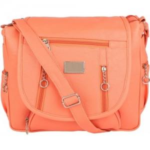 Savitri Arts Women Orange PU Solid Sling Bag
