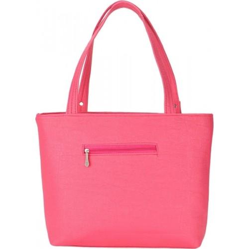 Siddharth Sanya Pink PU Solid Hand-held Bag
