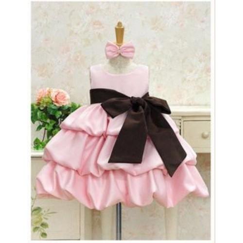 Mumma Mia Pink Satin Cinderella Dress
