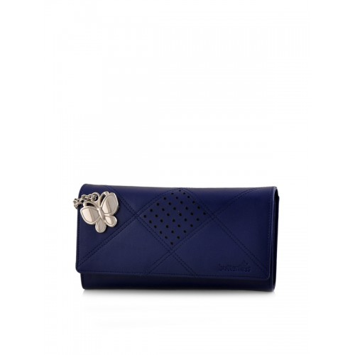 Butterflies Women's Wallet (Blue) (BNS 2385BL)