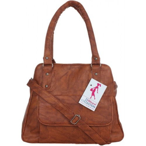Ritupal Collection Brown PU Solid Hand-held Bag