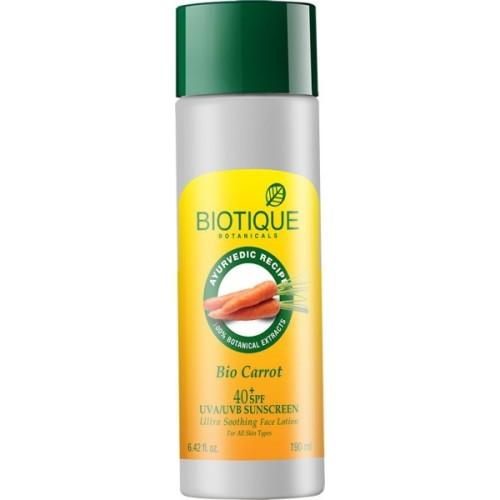 Biotique Bio Carrot UVA/UVB Sunscreen Face Lotion SPF 40 PA+