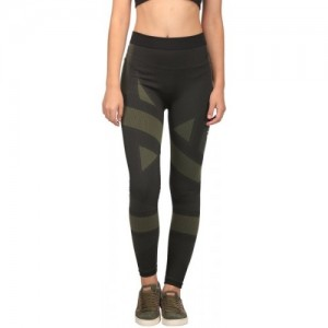 Puma Geometric Print Black Polyester Tights