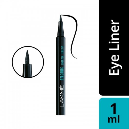 Lakme Eyeconic Fine Tip Liner Pen, Black, 1ml