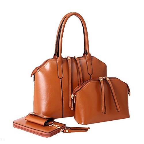 Di Grazia Coffee Brown Set Of 4 Combo Bag