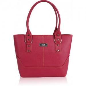 Jacy London Pink Leather Shoulder Bag