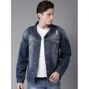 Moda Rapido Men Blue Washed Denim Jacket
