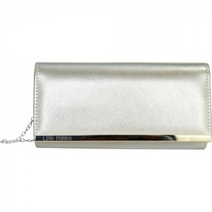 Lino Perros Party Silver Leather Clutch