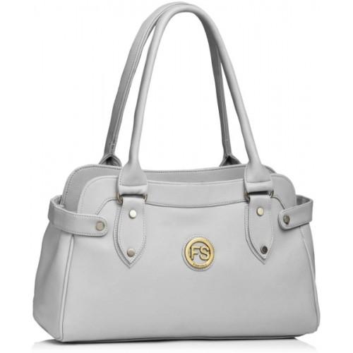 Fostelo Gray PU Casual Shoulder Bag