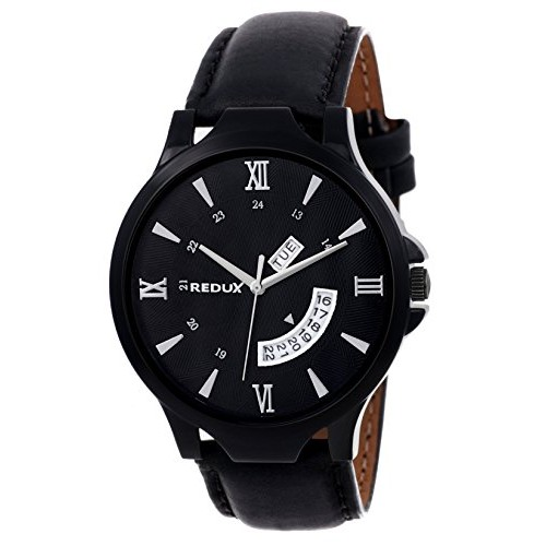 REDUX Rws0106 Black Analog Dial Watch-RWS0106S