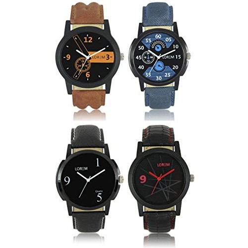 Lorem Stylish Combo Watches For Men and Women-LR-01-02-06-08
