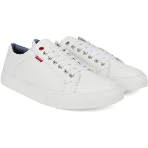 Buy Levi's PRELUDE White PU Sneakers