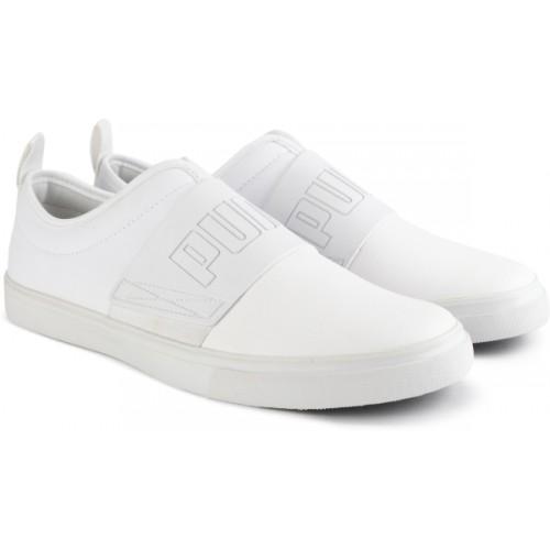 puma white loafers