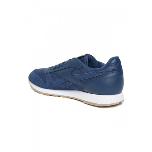 Reebok Classic Men Blue CL ESTL Leather Sneakers