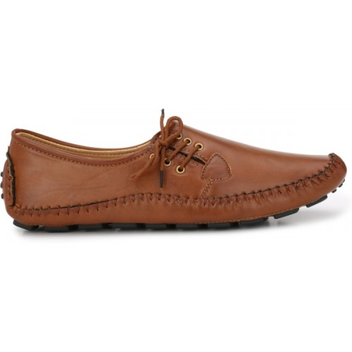 Andrew Scott Tan Synthetic Leather Classic Comfort Loafers