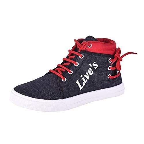 Aircum Red Live's Red-Black Casual Shoes