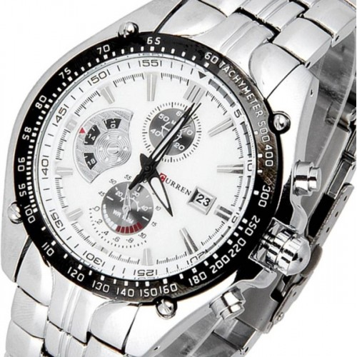 Curren CUR-02 Metal Chain Watch  - For Men