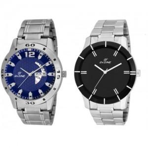 Dezine COMBO OF GENTS-GR1181BLU-GR065 Watch  - For Men