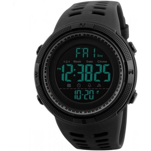 Skmei Digital Multi-functional Full Screen Black Sports Watch