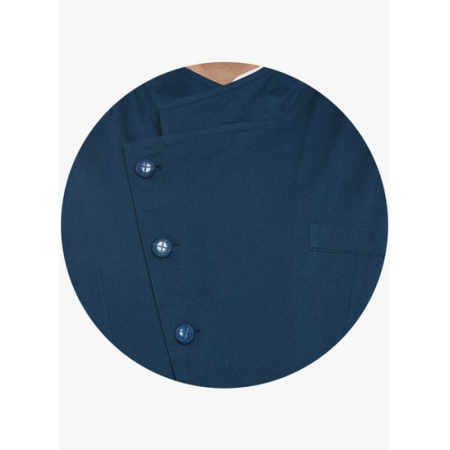 Hypernation Blue Solid Nehru Jacket