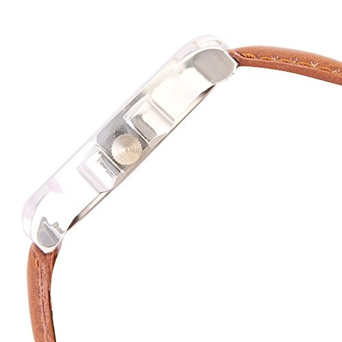 Watch Me AWC-018 Brown Round Leather Analog Watch